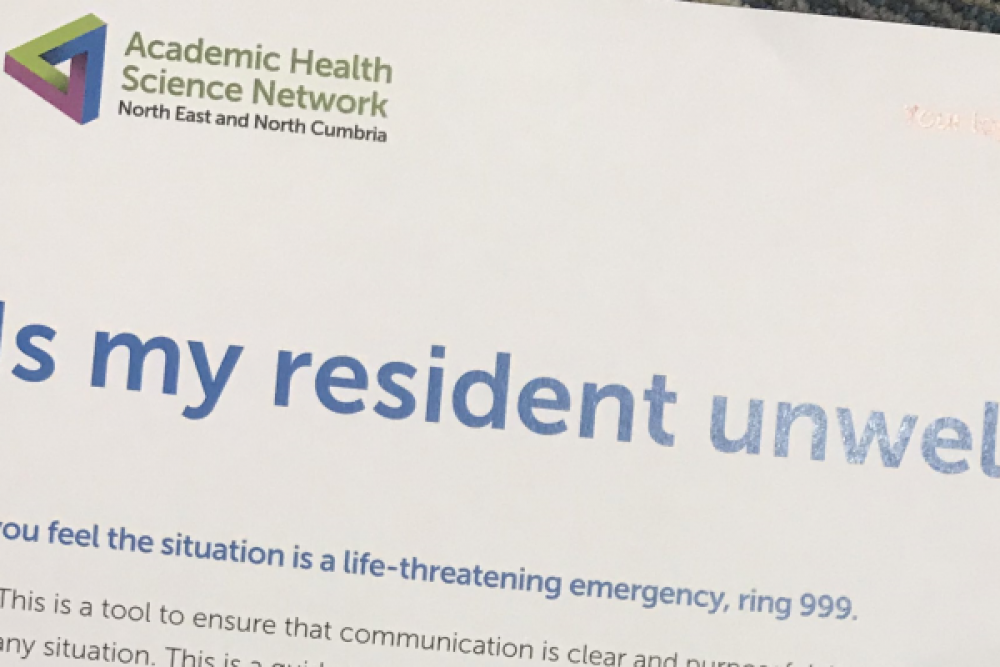 AHSN NENC Launch 'Is my resident unwell?' communication tool