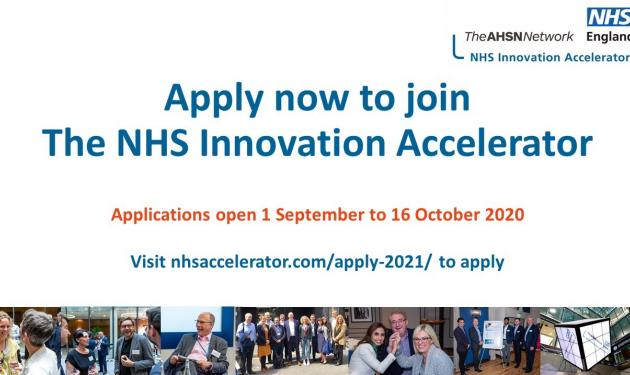 Applications for the NHS Innovation Accelerator are now open!