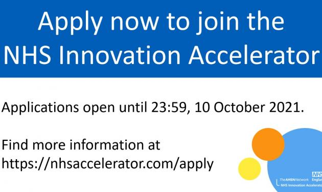 NHS Innovation Accelerator launches call for innovator Fellows 2022