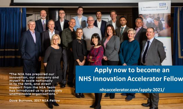NHS Innovation Accelerator – Call for Applicants for the 20/21 cohort